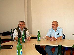 Ivan Dejmal - Ivan Dejmal and Erazim Kohák in 2003