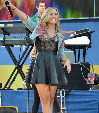 Demi Lovato - Lovato performing on Good Morning America in July 2012 as part of their Summer Concert Series.