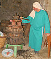 Demonstration of basket Wine pressing.jpg