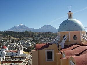 Ciudad Serdán - Image: Desde Ciudad Serdán, Citlali, Sierra Negra y GTM