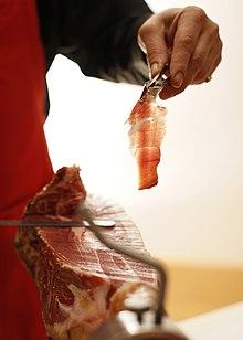 dieta astringente al prosciutto serrano