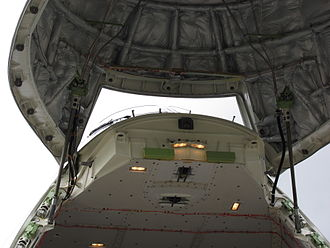 Leadscrew - Leadscrews are used to raise and lower the front door of the Boeing 747-8F Freighter aircraft.