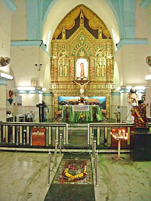 St. Francis Xavier's Cathedral, Kottar - Internal view