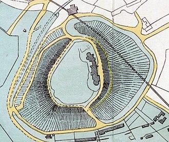 Devizes Castle - 1883 plan of the castle, from the estate sale