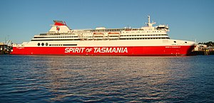 MS Spirit of Tasmania II - Image: Devonport Spirit Of Tasmania 2008