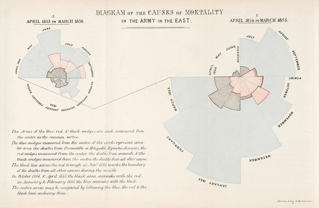 Diagram of the causes of mortality in the army Wellcome L0041105