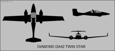 Diamond DA-42 three-view silhouette.png