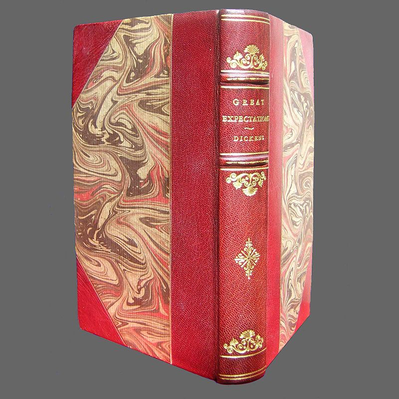 Dickens Great Expectations in Half Leather Binding.jpg