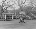 Distance view of President Truman in the reviewing stand during the Army Day parade. - NARA - 199769.tif