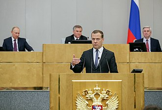 Dmitry Medvedev's Second Cabinet - Medvedev at his confirmation hearing on 8 May 2018