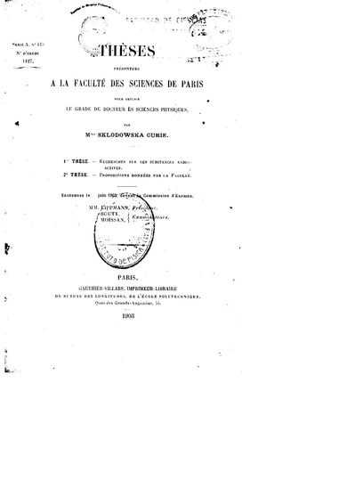 File:Doctoral thesis by Marie Curie (1903).pdf