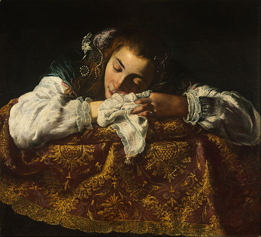 Domenico Fetti - Sleeping Girl - Google Art Project