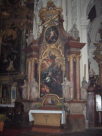 Lorenzo Mattielli - Statues on the John of Nepomuk altar in the Dominikanerkirche, Vienna
