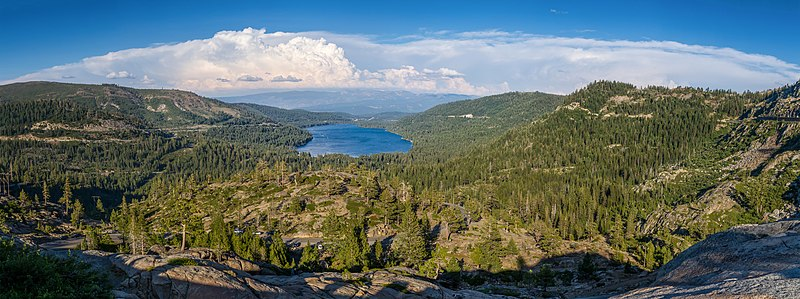 Donner Lake as seen from Donner Pass.