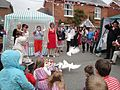 Dove release at Whitwell Diamond Jubilee 2012 street party 6.JPG