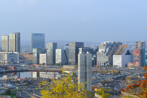Sentrum, Oslo - Image: Downtown Oslo Norway skyline