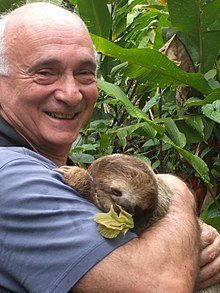 Dr. Alexander Bogomolny in Costa Rica with a sloth - Spring 2017.jpg