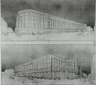 Brussels Central Station - Draft of Brussels Central Station by Victor Horta