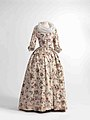 Dress (robe à l'anglaise) and skirts in chintz, ca. 1770-1790, shawl (fichu) in embroidered batiste, 1770-1800.jpg
