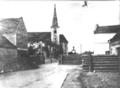 Dukelská ulice Litovel zátarasy 1945.png