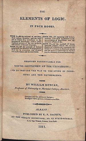 Gnosology - Image: Duncan, William – The elements of logic, 1811 – BEIC 769468