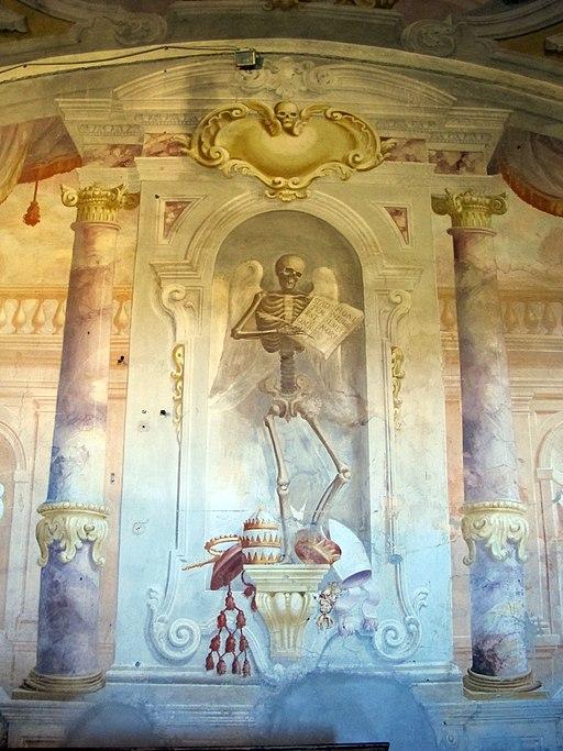 Duomo di colle, int., cripta della misericordia 10 scheletro