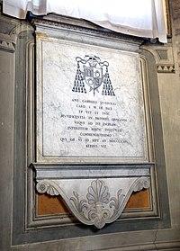 Duomo di viterbo, interno, coro dei canonici, tomba del cardinale antonio gabriele severoli.jpg