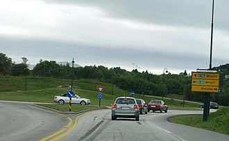 European route E39 - Roundabout in Ålesund