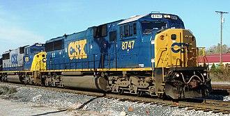 EMD SD60 - EMD SD60I, CSX 8747, Plymouth, Michigan