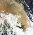E Aust dust storm - MODIS Terra 2km - 23 Sept 2009.jpg