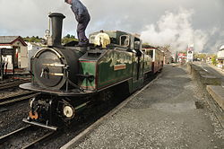 Earl of Merioneth at Porthmadog Harbour railway station (8127).jpg
