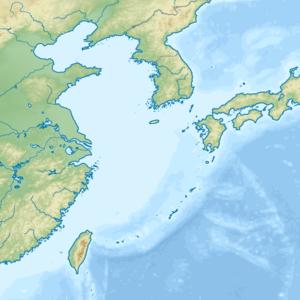 吐噶喇列島の位置(東シナ海内)