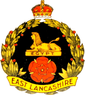 East Lancashire Regiment - Regimental badge