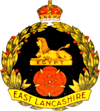East Lancashire Regiment - Regimental badge