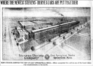 New England Westinghouse Company - East Springfield Works, during its ownership by Stevens-Duryea