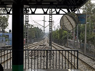 Xochimilco Light Rail - The panorama of the line between La Noria and Huichapan