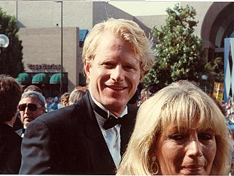 Ed Begley Jr. - Begley and Penny Marshall on the red carpet at the 40th Primetime Emmy Awards, August 28, 1988