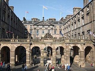 Edinburgh City Chambers city hall in City of Edinburgh, Scotland, UK