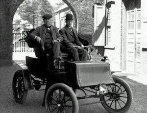 John Studebaker - Thomas Edison on his 1903 Electric Studebaker, the first of the electric automobiles