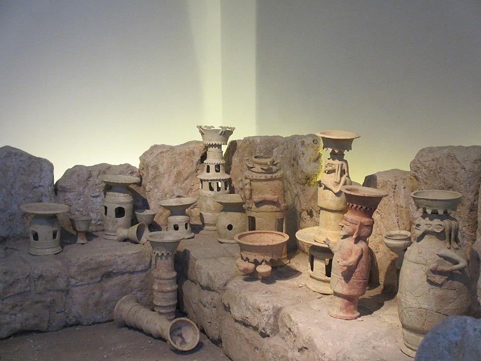 Edomite stands (3), Hazeva. Israel Museum, Jerusalem