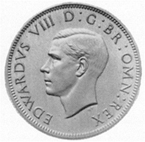 Humphrey Paget - Paget's unused design for silver coins depicting Edward VIII facing left