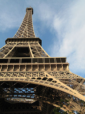 Wrought iron - The Eiffel tower is constructed from puddled iron, a form of wrought iron