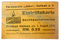 Eintrittskarte zum Bezirksschwimmfest 1932 - 0.25 Pfennig.jpg