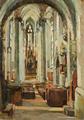 Elena Popea - Interior de catedrala.png