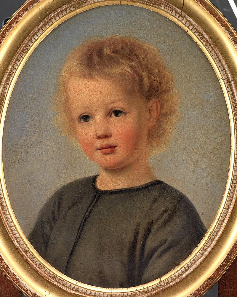 Элизабет Иерихау Бауманн - Портрет Хольгера Аагаарда Хаммериха с 4-х часов - KMS6699 - Statens Museum for Kunst.jpg