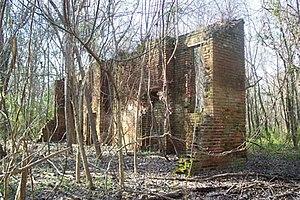 Elizabeth Female Academy - The ruins