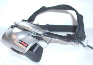 Head-mounted display - A binocular head-mounted display (HMD).