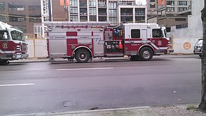 Vancouver Fire and Rescue Services - Engine 15 staged at Granville and Davie