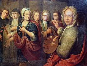 Englebert Fisen, Portrait of the artist and his family (1722), Musée d'Ansembourg, Liège, Belgium.jpg