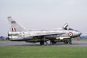 RAF Coltishall - A Lightning of 65 Sqn, seen at RAF Upper Heyford in August 1972. The English Electric Lightning entered service with the RAF at Coltishall in June 1960 with 74 Sqn